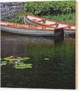 Wooden Rowboats Wood Print