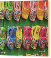 Wooden Shoes From Amsterdam Wood Print