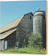Wooden Silo Wood Print
