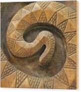 Wooden Snake Wood Print
