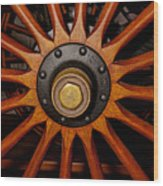 Wooden Spokes Wood Print