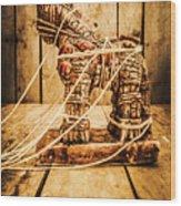 Wooden Trojan Horse Wood Print