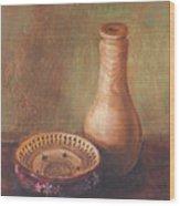 Wooden Vase Wood Print