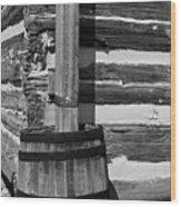 Wooden Water Barrel Wood Print