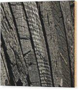 Wooden Water Wheel Wood Print