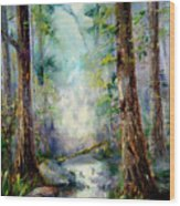 Woodland Creek 1.0 Wood Print
