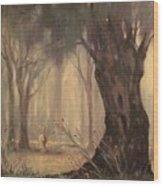 Woodland Fawn Wood Print