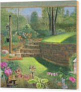 Woodland Garden In A Small Town Wood Print