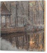 Woodland Gazebo Wood Print