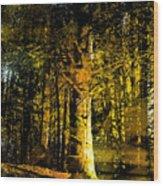 Woodland Tapestry Wood Print