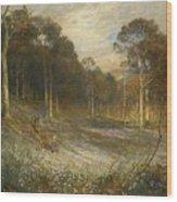 Woodlands Gay With Lady Smocks Wood Print
