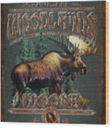 Woodlands Moose Wood Print