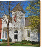 Woodlandville Methodist Church Wood Print