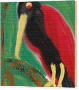 Woodpecker  Wood Print