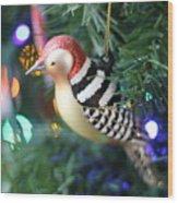 Woodpecker Ornament Wood Print