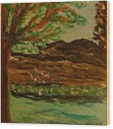 Woods Wood Print by Marie Bulger