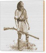 Woodsman Wood Print