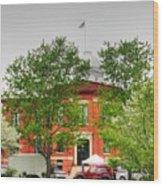 Woodstock Courthouse Wood Print