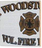 Woodstock Fire Dept Wood Print