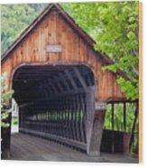 Woodstock Middle Bridge Wood Print