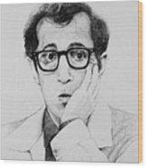 Woody Allen Wood Print