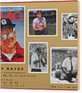 Woody Hayes Legen Five Panel Wood Print