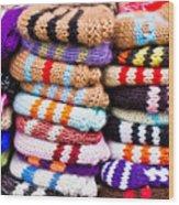 Wool Socks Wood Print