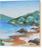 Woolleys Bay New Zealand Northland Wood Print