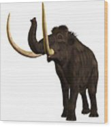 Woolly Mammoth Profile Wood Print
