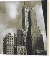 Old New York Photo - Historic Woolworth Building Wood Print