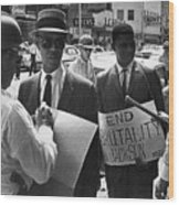 Woolworths Protest, 1963 Wood Print by Granger