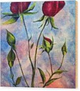 Woop Woop Rose Wood Print