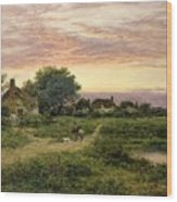 Worcestershire Cottages Wood Print