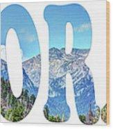 Word Art...  Colorado Wood Print