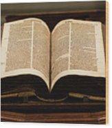 Word Of God Wood Print