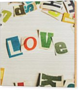 Word Of Love Wood Print