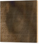Words Winding Wood Print by Vicki Ferrari