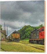Work Horse Trains 3 Madison Georgia Locomotive Art Wood Print