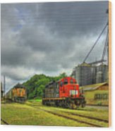 Work Horse Trains 7 Madison Georgia Locomotive Art Wood Print