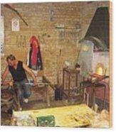 Work Man Wood Print