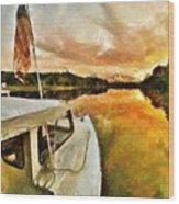 Workboats On San Damingo Creek Wood Print
