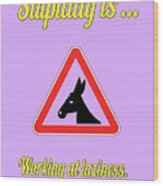 Working Bigstock Donkey 171252860 Wood Print