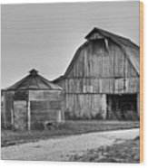 Working Farm Barn And Storage Bin Wood Print