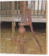 Working Hand Pump Wood Print
