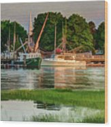 Working Waterfront Wood Print