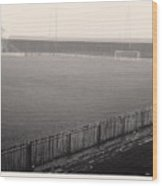 Workington - Borough Park - Covered End 1 - Bw - 1960s Wood Print