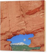 World-famous Pikes Peak Framed By What We Call The Keyhole  Wood Print