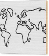 World Globe Wood Print