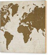 World Grunge Wood Print
