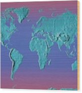 World Land Mass Map Wood Print by Vladimir Pcholkin